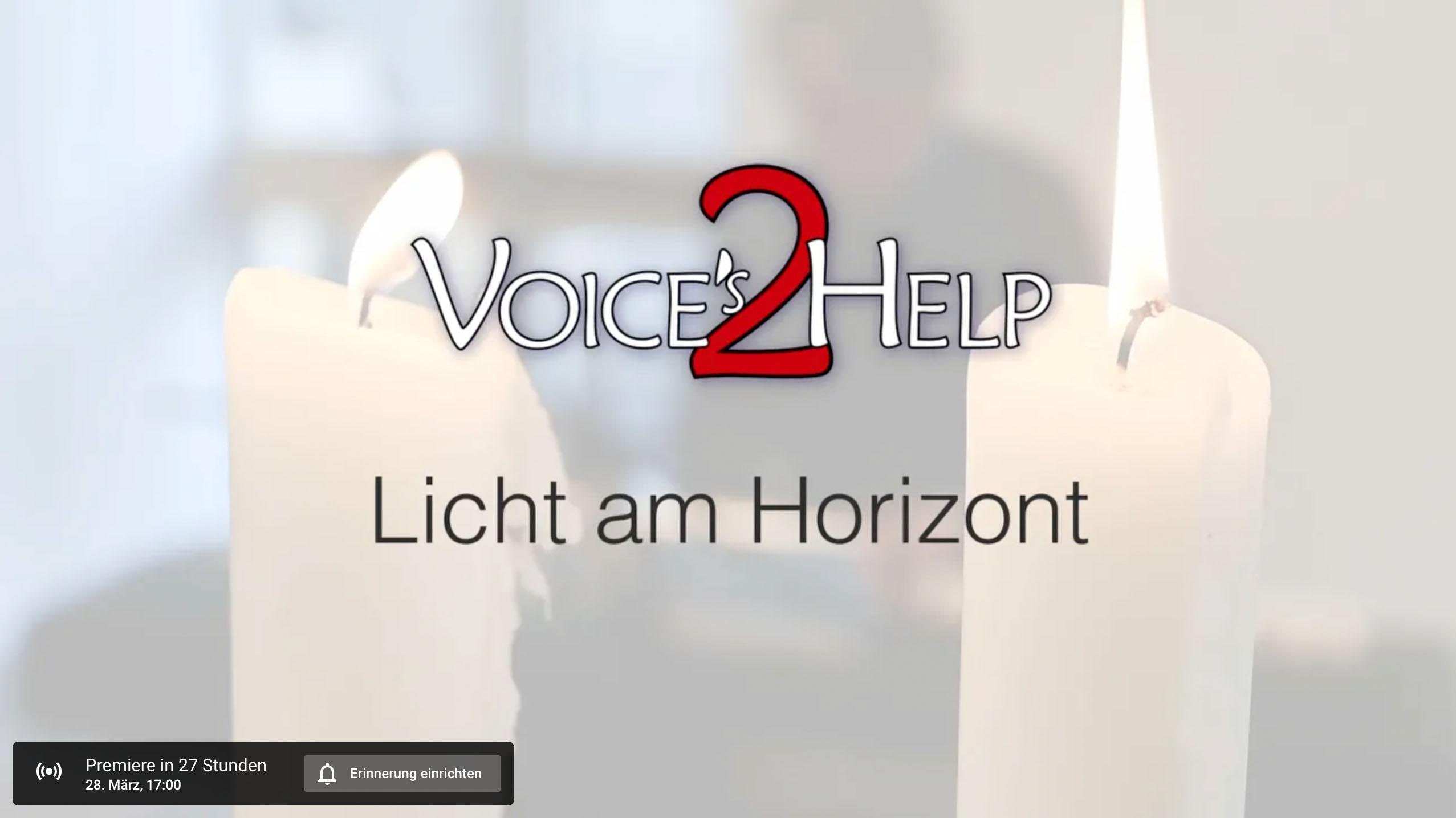1. digitalen Konzert der Voices2Help - YouTube
